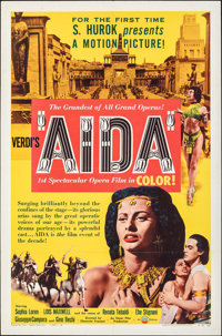 """Aida & Other Lot (IFE Releasing, 1954). Folded, Very Fine-. One Sheets (2) (27"""" X 41"""") Style A. Musica..."""