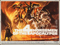 "Movie Posters:Drama, The Four Horsemen of the Apocalypse (MGM, 1961). Folded, Very Fine-. British Quad (30"" X 40""). Reynold Brown Artwork. Drama...."