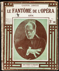 "Movie Posters:Horror, The Phantom of the Opera Part 1 by Gaston Leroux (Jules Tallendier, 1925). Fine. French Paperback Book (80 Pages, 7.25"" X 9""..."