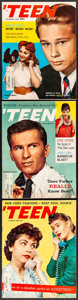 """Movie Posters:Miscellaneous, Teen Magazine (Teen Publications, 1959). Fine/Very Fine. Magazines (3) (Multiple Pages, 8.25"""" X 11""""). Miscellaneous.. ... (Total: 3 Items)"""