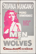 """Movie Posters:Foreign, Men and Wolves (Columbia, 1957). Folded, Fine. Screen-print One Sheet (28"""" X 42""""). Foreign.. ..."""