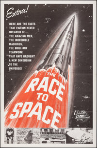 """The Race to Space (Universal International, 1962). Folded, Very Fine. One Sheet (27"""" X 41""""). Documentary"""