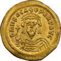 Ancients:Byzantine, Ancients: Phocas (AD 602-610). AV solidus (21mm, 4.21 gm, 7h). NGC AU★ 4/5 - 4/5, clipped....