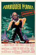 "Movie Posters:Science Fiction, Forbidden Planet (MGM, 1956). Very Fine+ on Linen. One Sheet (27"" X 41.5"").. ..."