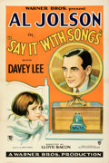 """Movie Posters:Musical, Say it with Songs (Warner Bros., 1929). Very Fine- on Linen. One Sheet (27.25"""" X 41"""") Style A.. ..."""