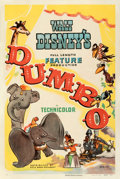 "Movie Posters:Animation, Dumbo (RKO, 1941). Fine/Very Fine on Linen. One Sheet (27.5"" X 41"") Style B.. ..."