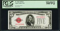 Fr. 1525 $5 1928 Legal Tender Note. PCGS Choice About New 58PPQ