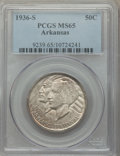 Commemorative Silver, 1936-S 50C Arkansas MS65 PCGS. PCGS Population: (418/182). NGC Census: (380/98). CDN: $135 Whsle. Bid for problem-free NGC/...