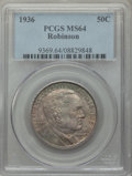 Commemorative Silver, 1936 50C Robinson MS64 PCGS. PCGS Population: (2039/1837). NGC Census: (1227/1092). CDN: $100 Whsle. Bid for problem-free N...