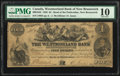 World Currency, Canada Bend of Petitcodiac, NB- Westmorland Bank o...
