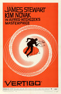 "Movie Posters:Hitchcock, Vertigo (Paramount, 1958). Very Fine- on Linen. One Sheet (27"" X 41.5""). Saul Bass Artwork.. ..."