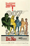 """Movie Posters:James Bond, Dr. No (United Artists, 1962). Fine+ on Linen. One Sheet (27"""" X 41"""") Colored Smoke Style. Mitchell Hooks Artwork.. ..."""