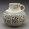 American Indian Art:Pottery, A Roosevelt Black-On-White Pitcher...