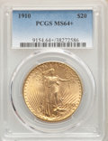 Saint-Gaudens Double Eagles, 1910 $20 MS64+ PCGS. PCGS Population: (1782/246). NGC Census: (942/80). CDN: $1,700 Whsle. Bid for problem-free NGC/PCGS MS...