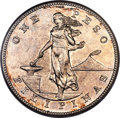 Philippines, USA Administration Peso 1906-S AU Details (Cleaned) PCGS,