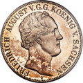 German States:Saxony, German States: Saxony. Friedrich August II 2 Taler 1854-F PR65 PCGS,...