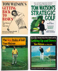 Books:Sporting Books, [Golf]. Tom Watson. Group of Four Signed First Editions. New York: Random House [and:] Pocket Books, [1984-1993].. ... (Total: 4 Items)