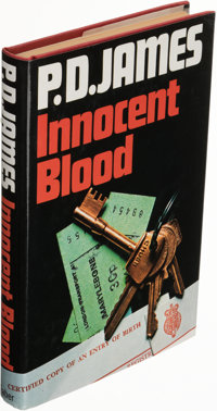 P. D. James. Innocent Blood. London: Faber and Faber, [1980]. First edition. Signed on title-page