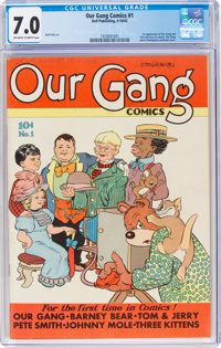 Our Gang Comics #1 (Dell, 1942) CGC FN/VF 7.0 Off-white to white pages