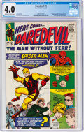 Silver Age (1956-1969):Superhero, Daredevil #1 (Marvel, 1964) CGC VG 4.0 Off-white to white pages....