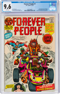 The Forever People #1 (DC, 1971) CGC NM+ 9.6 White pages
