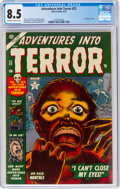 Golden Age (1938-1955):Horror, Adventures Into Terror #22 (Atlas, 1953) CGC VF+ 8.5 Off-white to white pages....