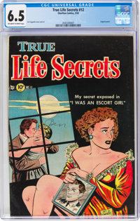 True Life Secrets #12 (Romantic Love Stories/Charlton, 1953) CGC FN+ 6.5 Off-white to white pages
