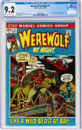 Bronze Age (1970-1979):Horror, Werewolf by Night #2 (Marvel, 1972) CGC NM- 9.2 Cream to off-white pages....