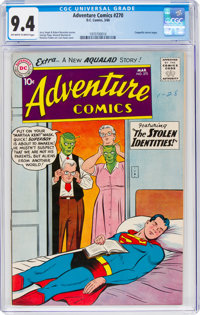 Adventure Comics #270 (DC, 1960) CGC NM 9.4 Off-white to white pages
