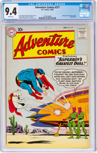 Adventure Comics #277 (DC, 1960) CGC NM 9.4 White pages