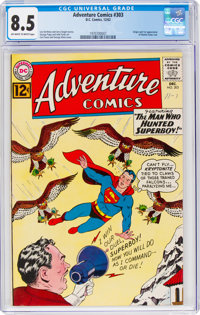 Adventure Comics #303 (DC, 1962) CGC VF+ 8.5 Off-white to white pages