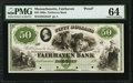 Obsoletes By State:Massachusetts, Fairhaven, MA- Fairhaven Bank $50 G84a Proof PMG Choice Uncirculated 64.. ...