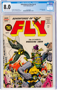 Adventures of the Fly #2 (Archie, 1959) CGC VF 8.0 Cream to off-white pages