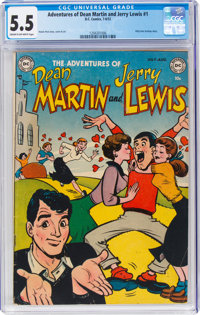 Adventures of Dean Martin and Jerry Lewis #1 (DC, 1952) CGC FN- 5.5 Cream to off-white pages