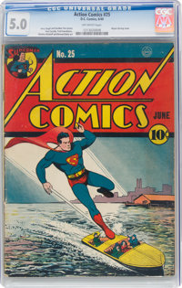 Action Comics #25 (DC, 1940) CGC VG/FN 5.0 Off-white pages
