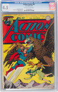 Golden Age (1938-1955):Superhero, Action Comics #82 (DC, 1945) CGC VG+ 4.5 Off-white to white pages....