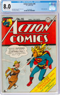 Golden Age (1938-1955):Superhero, Action Comics #95 (DC, 1946) CGC VF 8.0 Off-white to white pages....