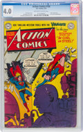 Golden Age (1938-1955):Superhero, Action Comics #156 (DC, 1951) CGC VG 4.0 Off-white to white pages....