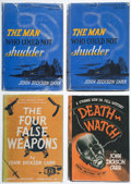 Books:Mystery & Detective Fiction, John Dickson Carr. Group of Four First Editions. New York: Harper & Brothers, Publishers, 1935-1940.. ... (Total: 4 Items)