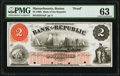 Obsoletes By State:Massachusetts, Boston, MA- Bank of the Republic $2 186_ G4a Proof PMG Choice Uncirculated 63.. ...