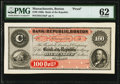 Obsoletes By State:Massachusetts, Boston, MA - Bank of the Republic, Boston $100 February 3rd, 186_ G16aP PMG Uncirculated 62.. ...