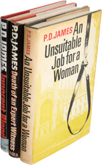 P. D. James. Group of Three First Editions. London: Faber and Faber, [1972-1980].... (Total: 3 Items)