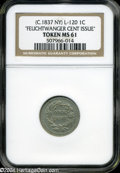 Medals and Tokens: , (1837) Feuchtwanger Cent MS61 NGC. Low-120, HT-268A?, High R.7. Ex: John Ford....