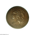 Half Cents: , 1793 1/2 C Straight Cap, Thin Leaves MS64 Brown PCGS....
