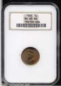Indian Cents: , 1905 1C MS65 Red NGC....