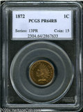 Proof Indian Cents: , 1872 1C PR64 Red and Brown PCGS....