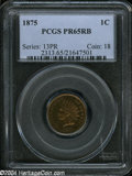 Proof Indian Cents: , 1875 1C PR65 Red and Brown PCGS....