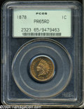 Proof Indian Cents: , 1878 1C PR65 Red PCGS....