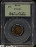 Proof Indian Cents: , 1880 1C PR65 Red PCGS....