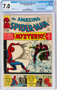 The Amazing Spider-Man #13 (Marvel, 1964) CGC FN/VF 7.0 Off-white to white pages